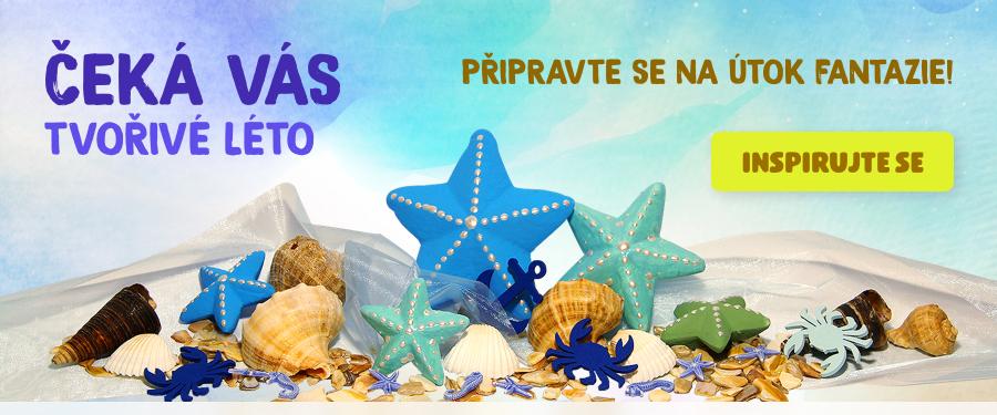Banner s produkty pro tvoření mořských obrázků