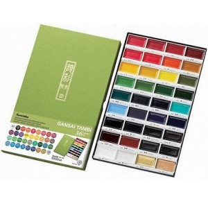 Akvarelové barvy GANSAI TAMBI